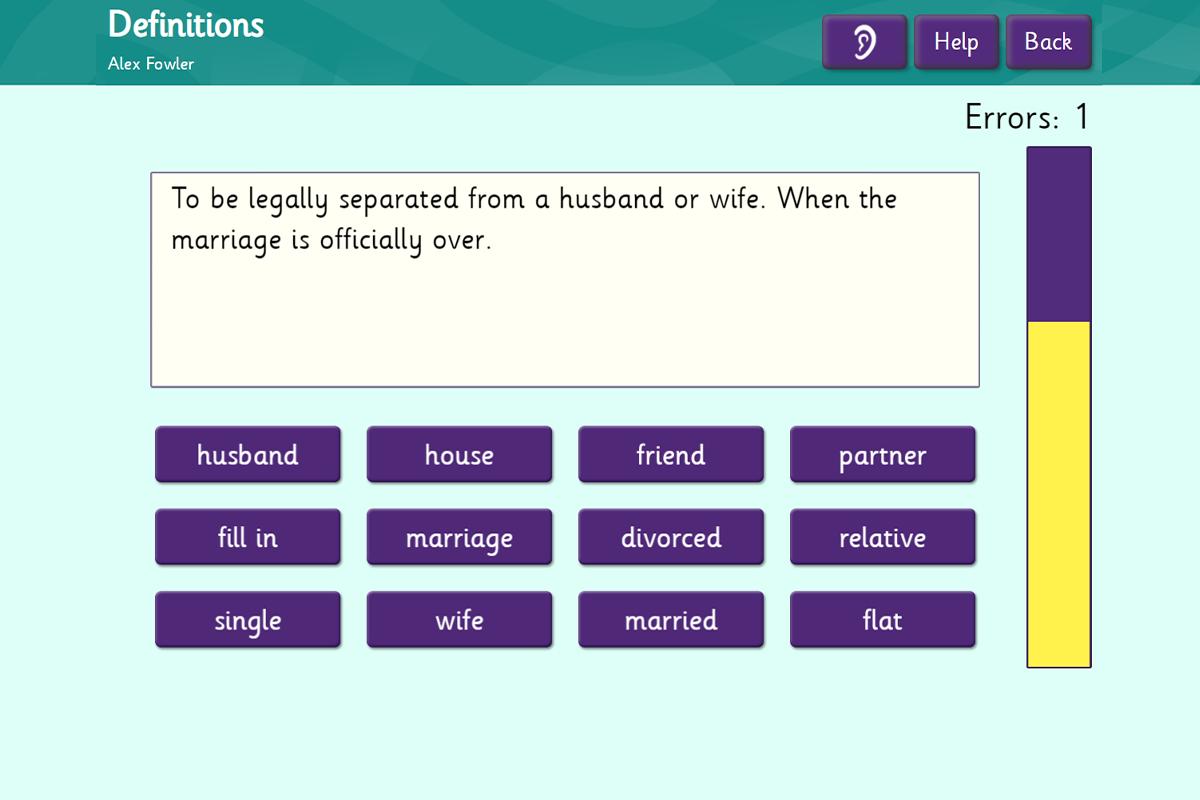 Definitions - Form filling vocab
